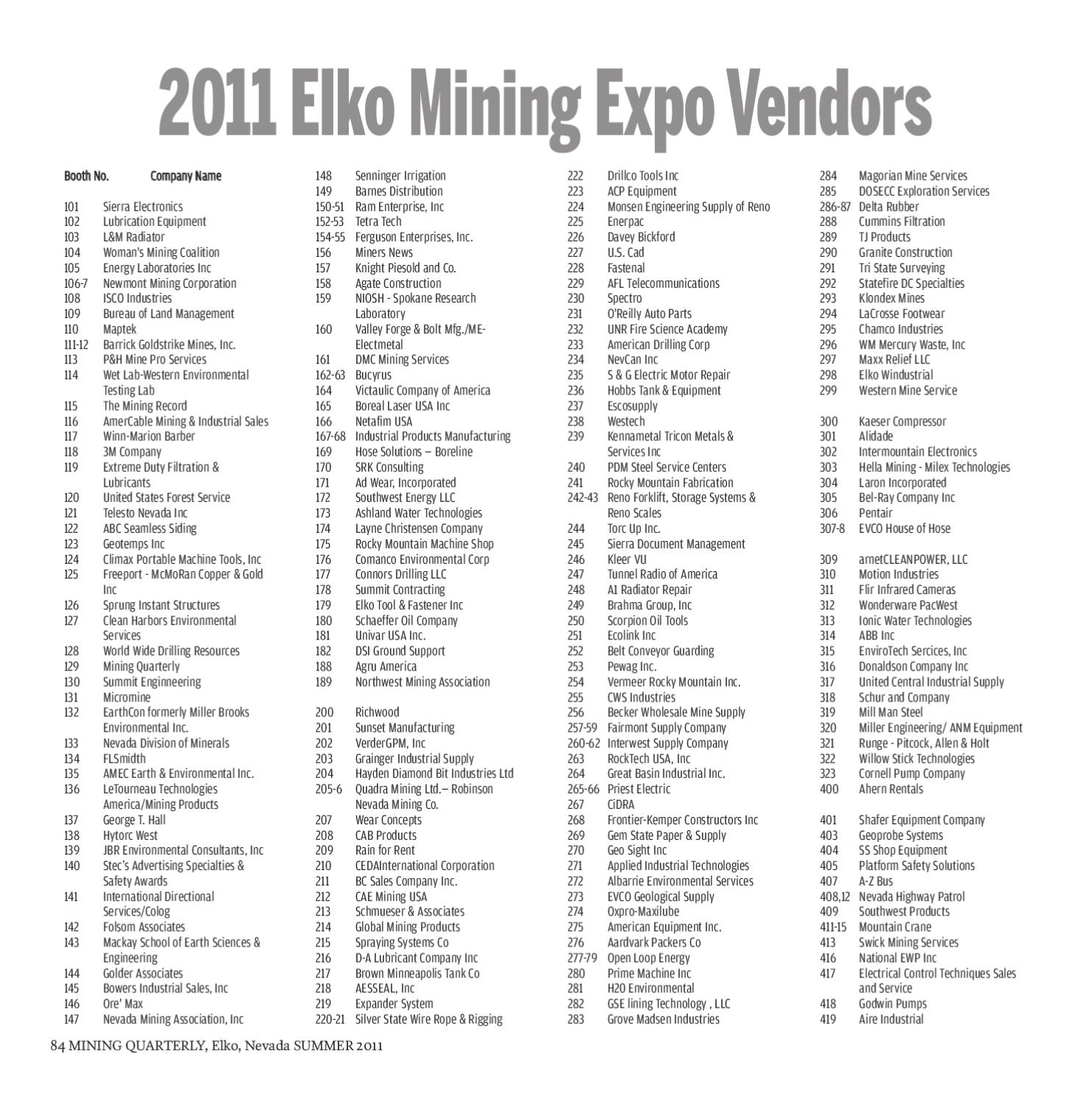 Mining Quarterly Summer 2011 By The Elko Daily Free Press