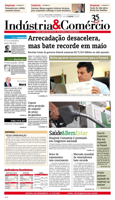 90fe07851 17-06-11 Indústria Comércio by Diário Indústria   Comércio - issuu