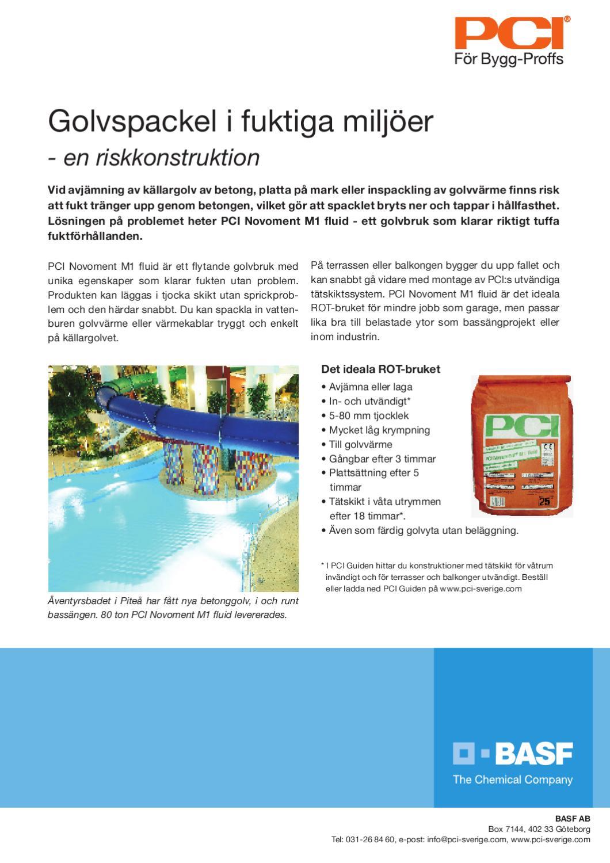 Inredning tätskikt våtrum : PCI Fuktiga golv by Marcus Klannemark - issuu