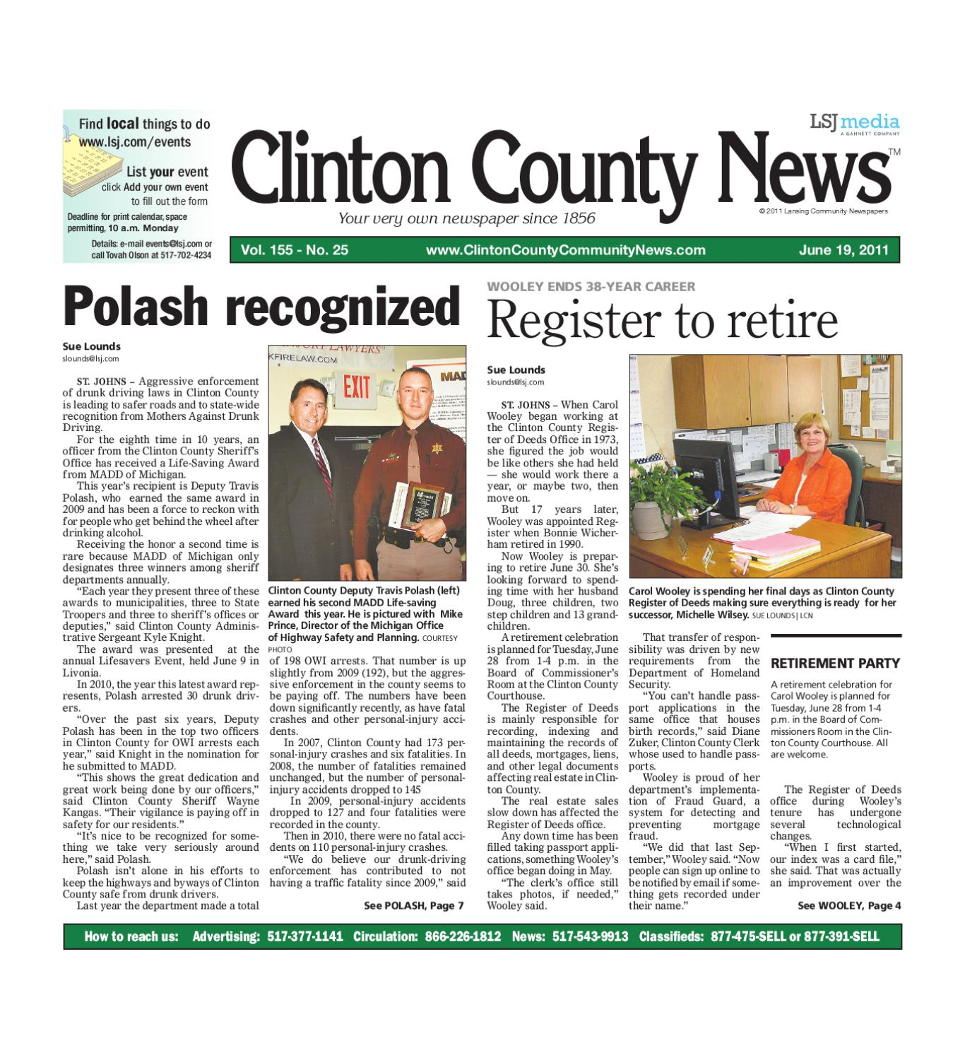 Clinton County News by Lansing State Journal - issuu
