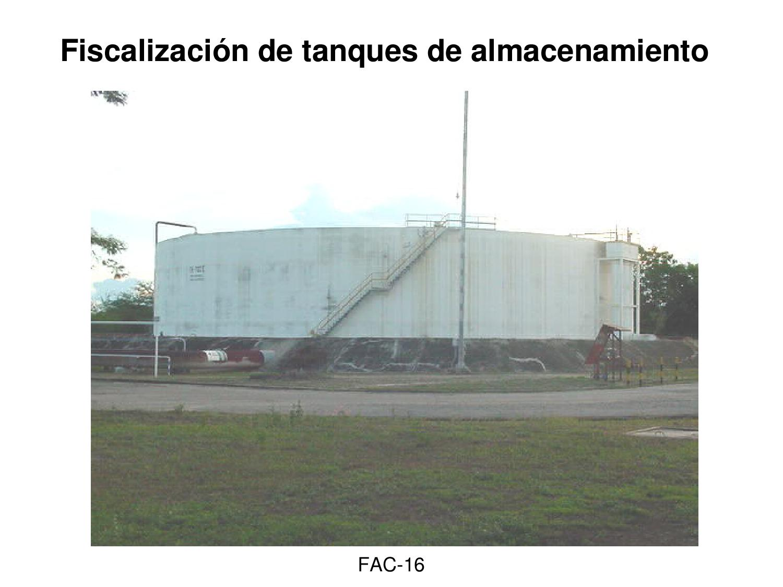 Fiscalizacion de tanques de almacenamiento de petr leo by for Criadero de cachamas en tanques