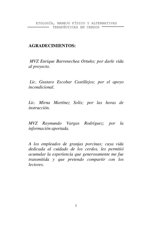 Etología, manejo físico y alternativas terapéuticas en cerdos by ...