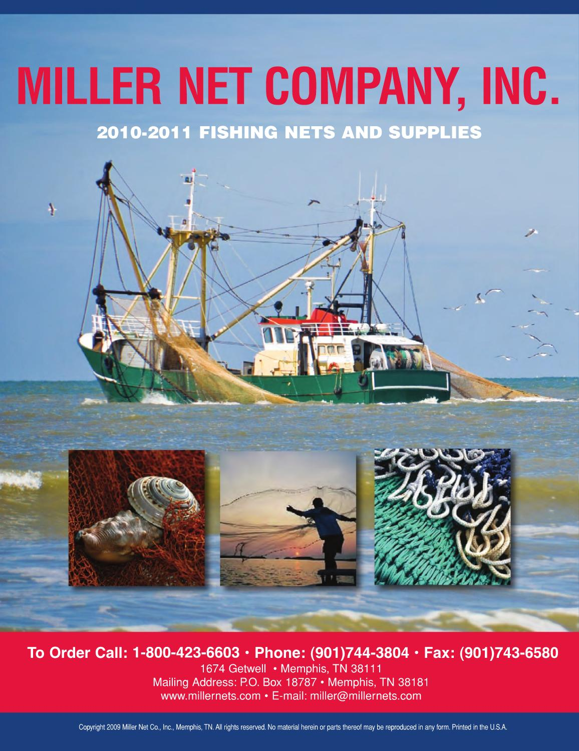 2011 miller nets fishing catalog by miller net company for Fish net company