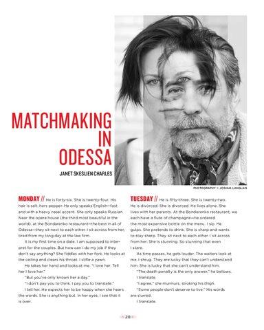 Odessa matchmaking Armband dating