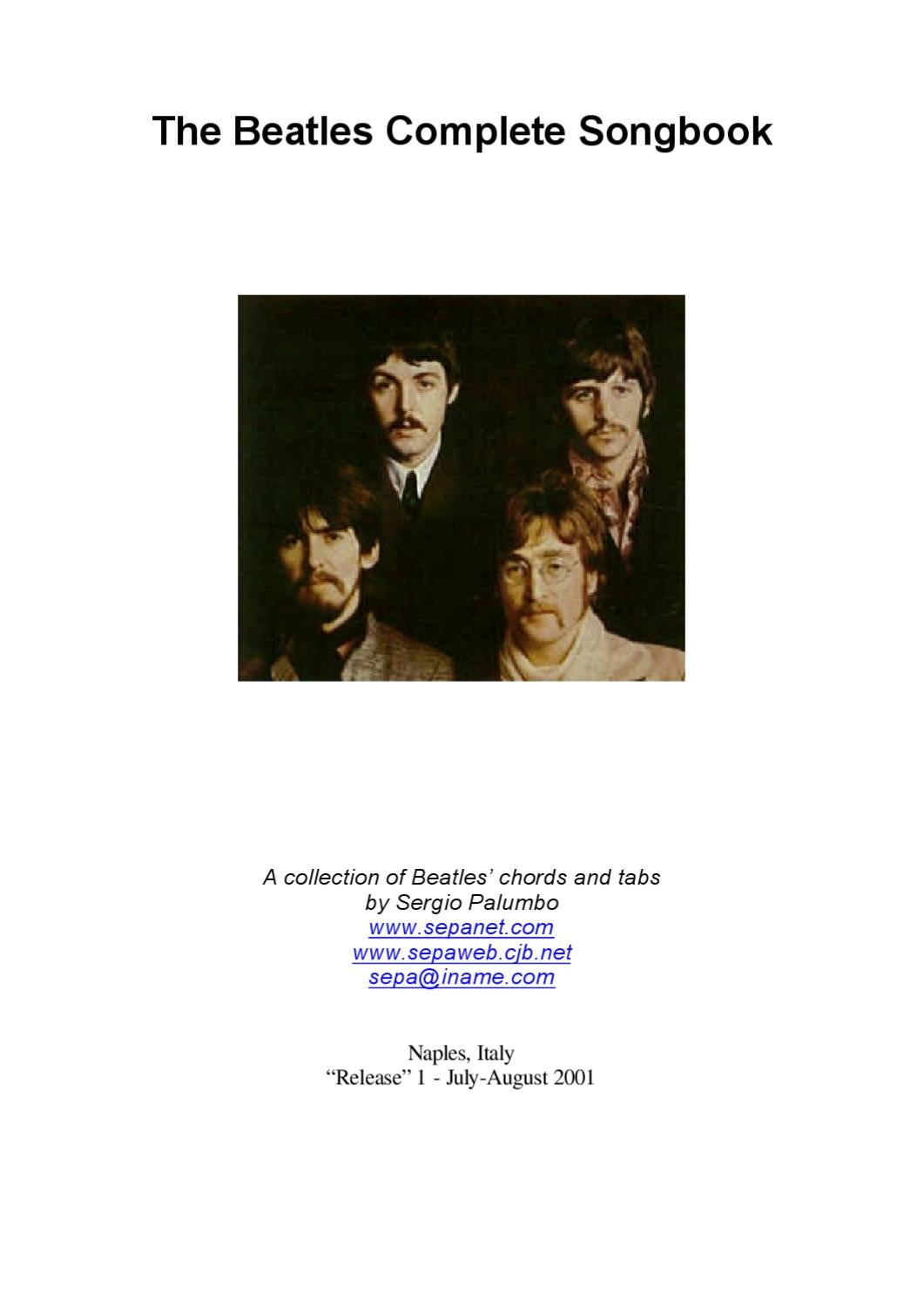 The Beatles Complete Songbook For Guitar Tabs And Chords By