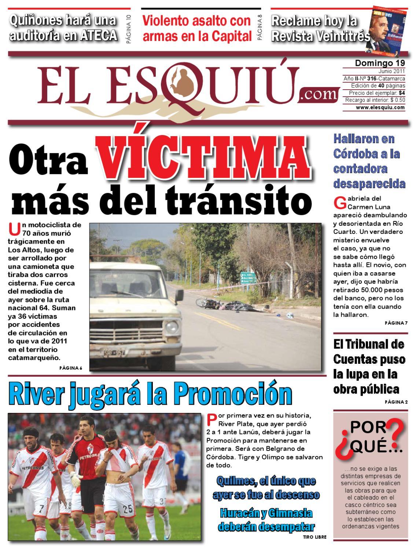 Diario Del D A Domingo 19 De Junio De 2011 By Editorial El Esqui  # Muebles Cinthia Medellin