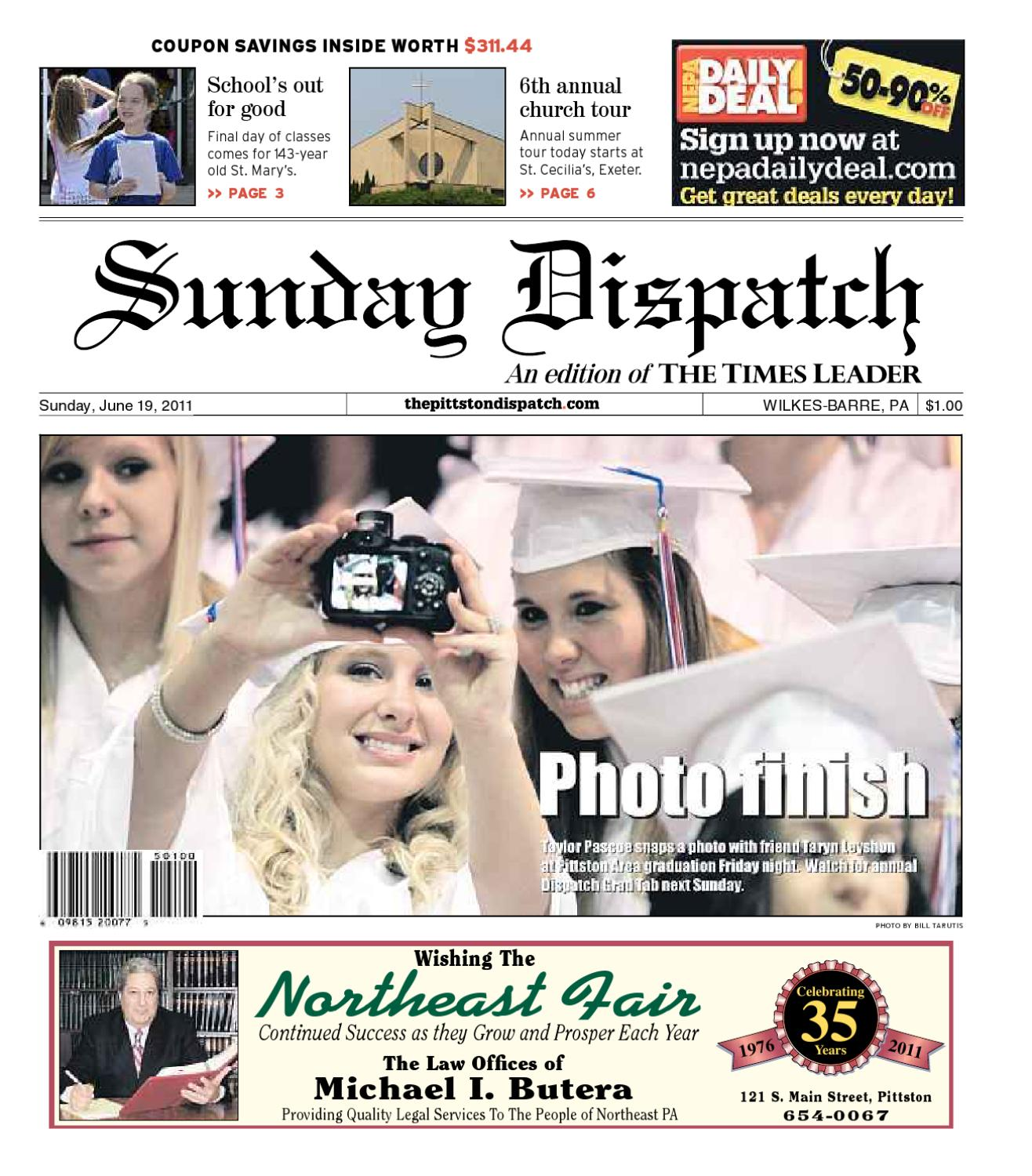 the pittston dispatch 06 19 2011 by the wilkes barre publishing
