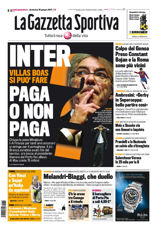 Gazzetta dello sport - 19 giugno 2011 by lòxzck fdsfs - issuu 607641404727