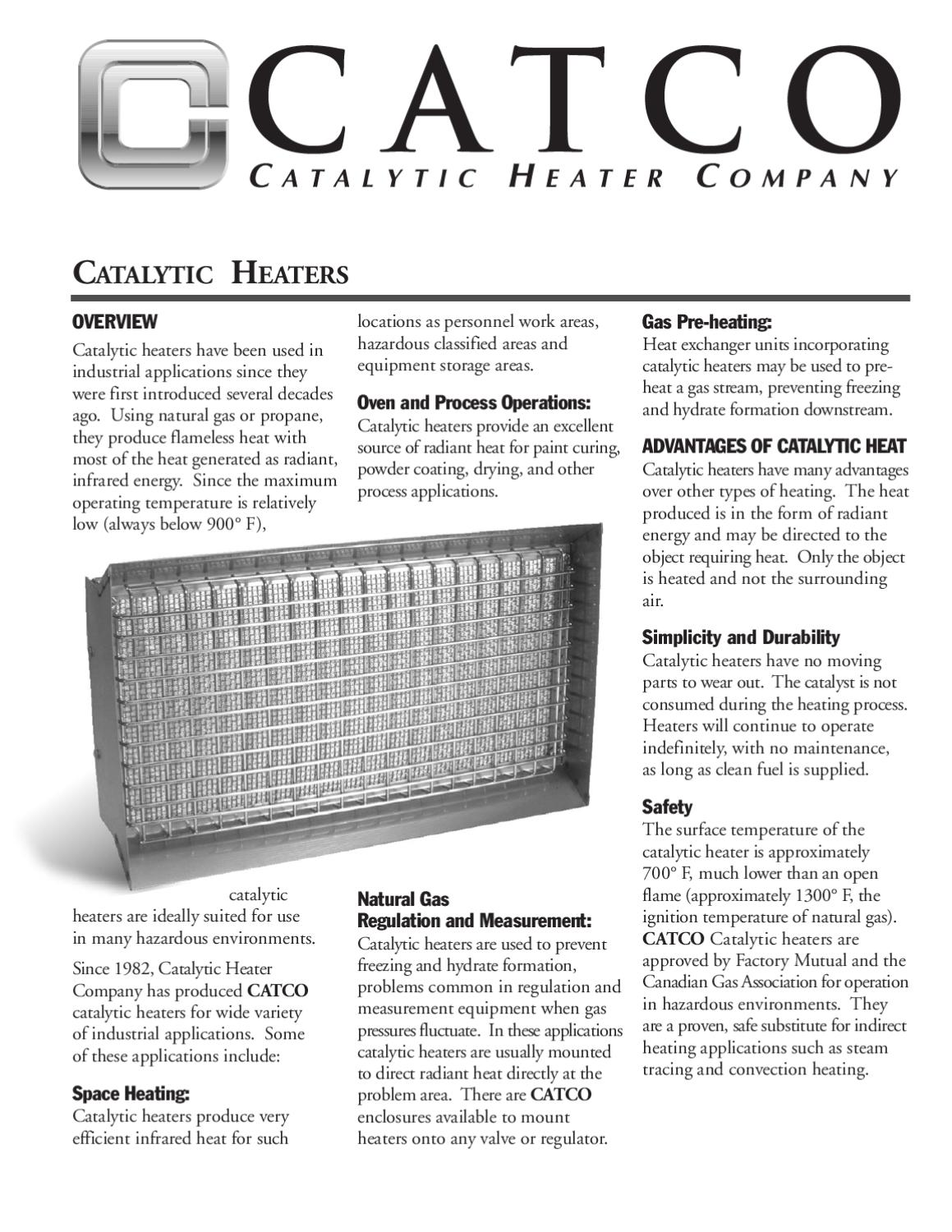 Catalytic Heaters Natural Gas