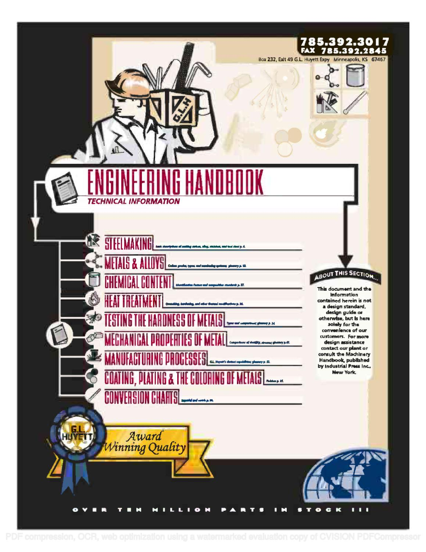 ENGINEERING HANDBOOK by HUYETT