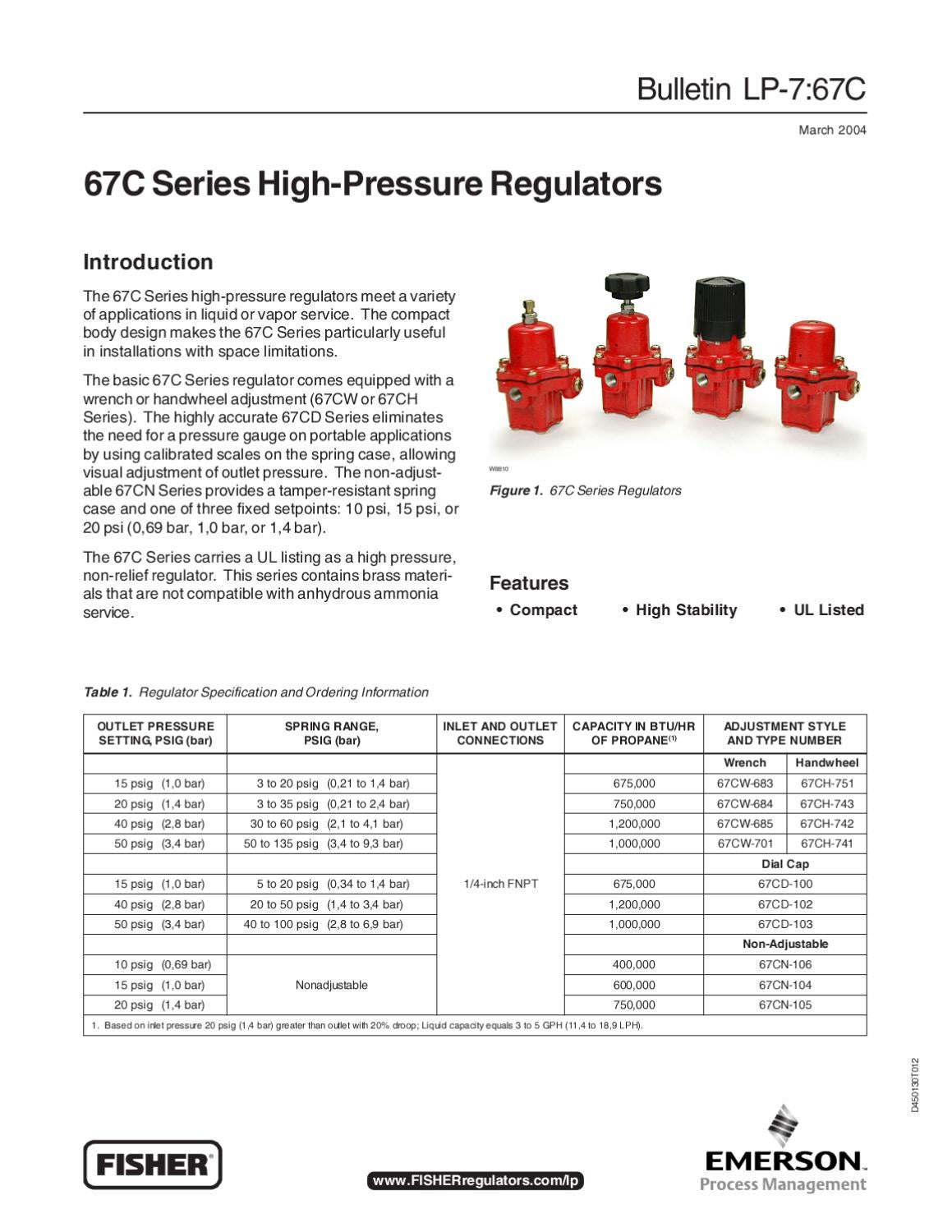 67C LP Bulletin By RMC Process Controls Filtration Inc