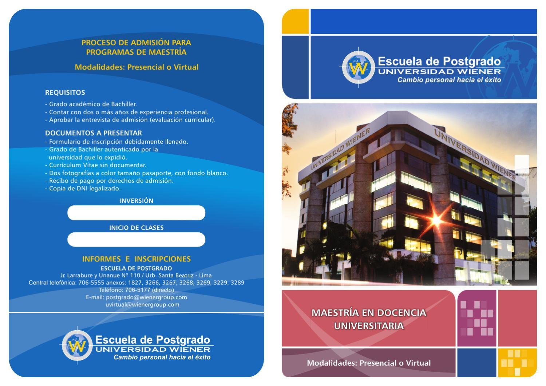 Maestria en docencia Universitaria by Carlos Enrique - issuu