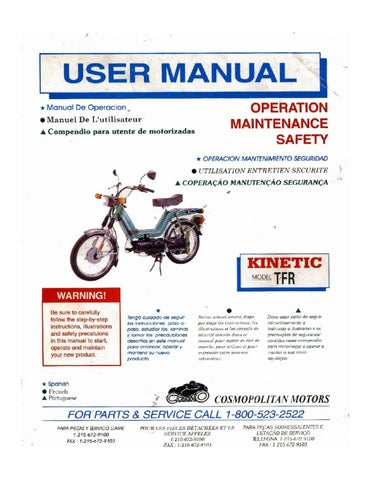 kinetic moped user s manual by christopher budde issuu rh issuu com Kinetic Moped Repair Kinetic Moped Repair