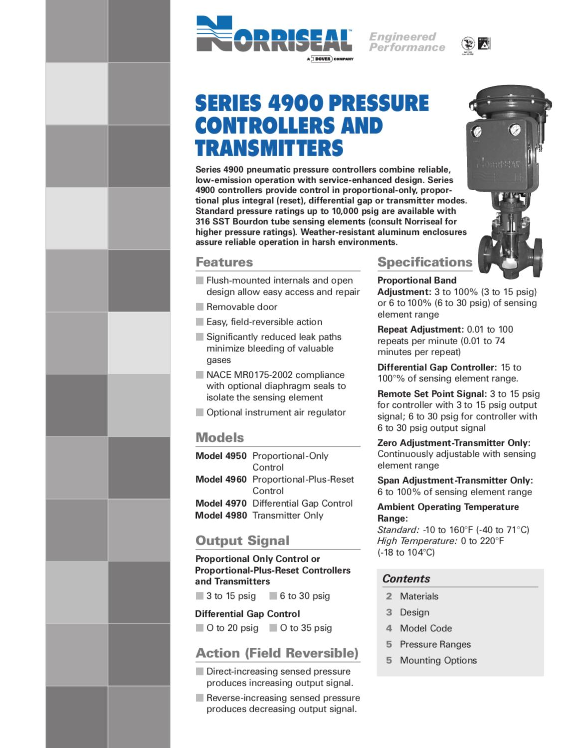 4900 Brochure By RMC Process Controls Filtration Inc