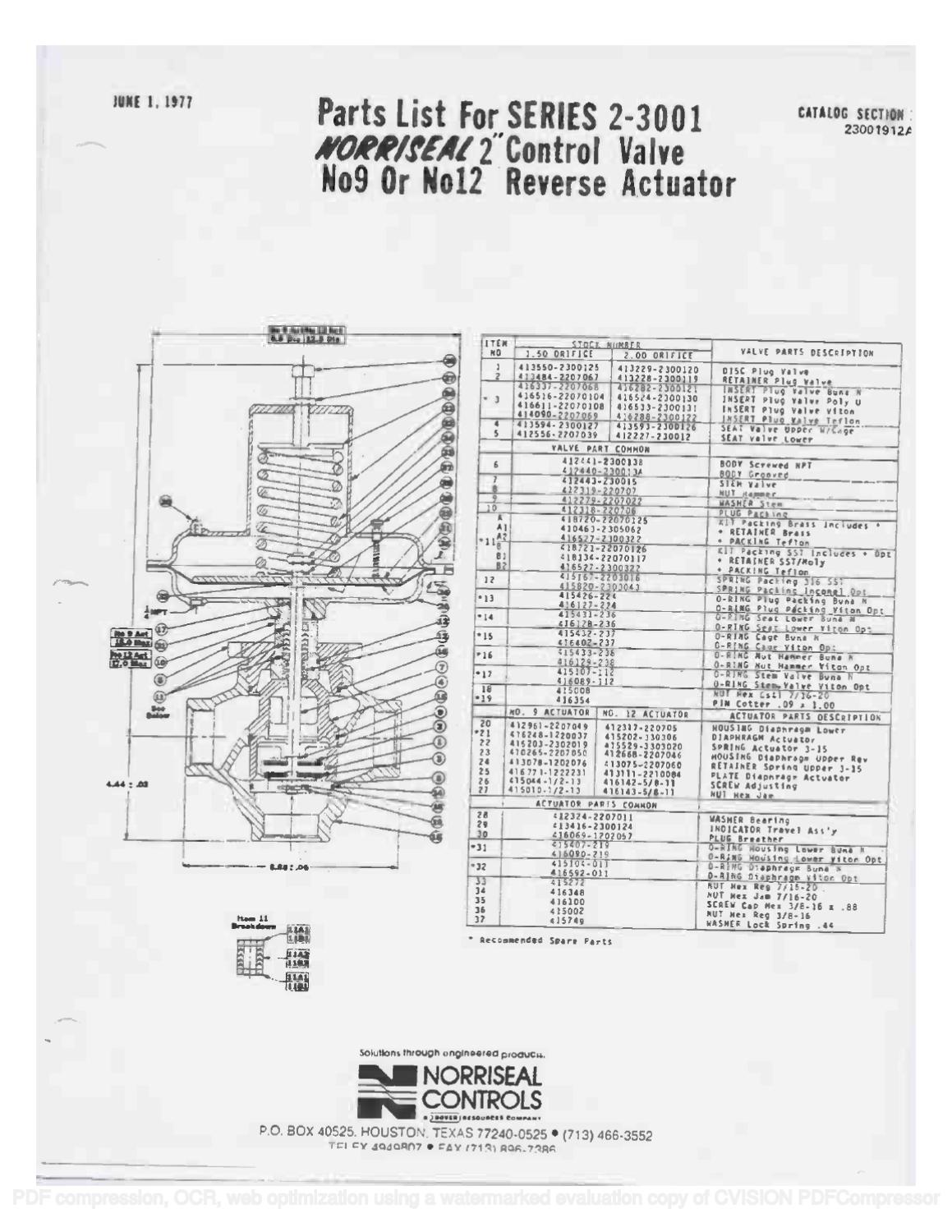 3001 Parts List  U0026 Schematic By Rmc Process Controls