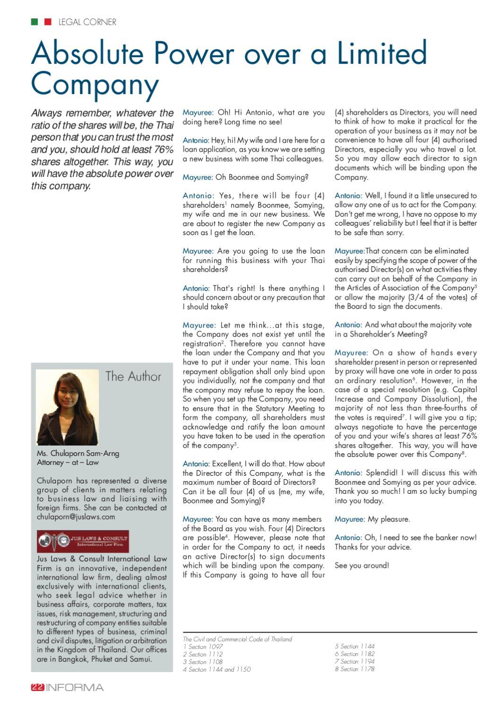 INFORMA June issue by Thai - Italian Chamber of Commerce - issuu