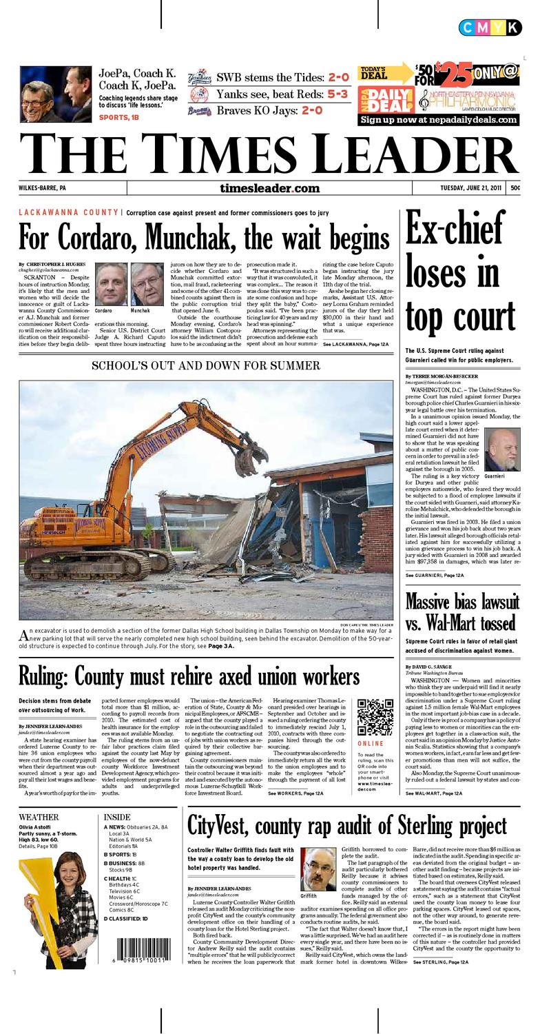 00cad4547 Times Leader 06-21-2011 by The Wilkes-Barre Publishing Company - issuu