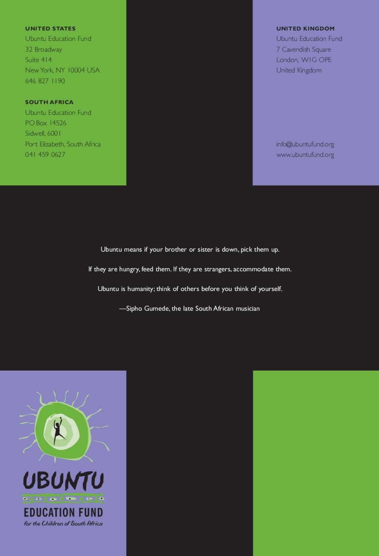Ubuntu Fund Annual Report 2007 by Ubuntu Education Fund - issuu