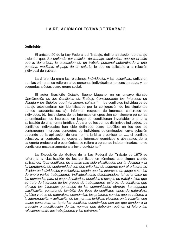 RELACIONES COLECTIVAS DE TRABAJO by omar gonzalez - issuu