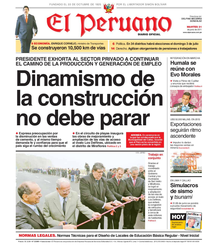 El Peruano 21 de junio 2011 by mabel calle - issuu