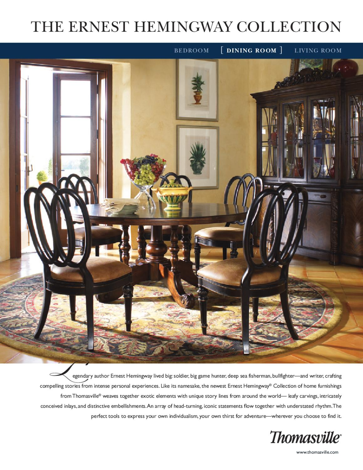 Delicieux Thomasvill  The Ernest Hemingway Collection ( Dining Room) By Cadieux U0026  Company   Issuu