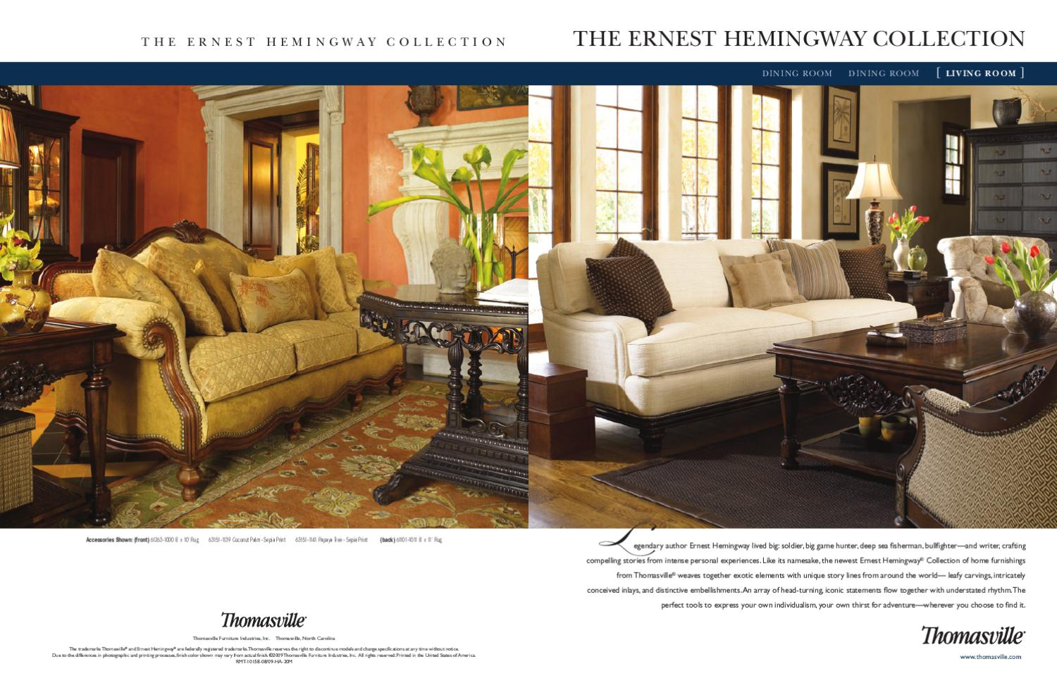 Exceptional Thomasville  The Ernest Hemingway Collection ( Living Room) By Cadieux U0026  Company   Issuu