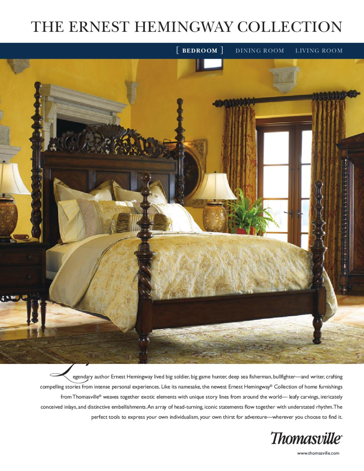 Amazing Thomasville  The Ernest Hemingway Collection (Bedroom) By Cadieux U0026 Company    Issuu