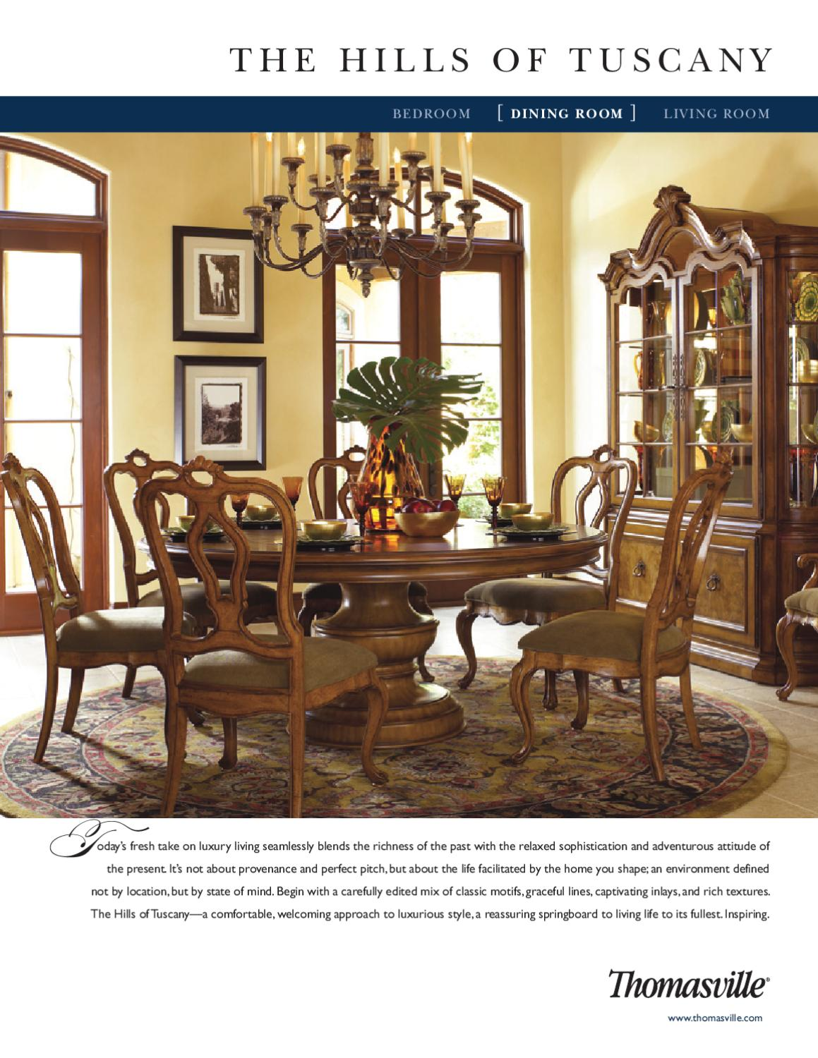 Thomasville The Hills Of Tuscany Dining Room By Cadieux