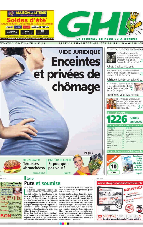 GHI du 23 juin 2011 by GHI   Lausanne Cités - issuu 721fa77f9b61