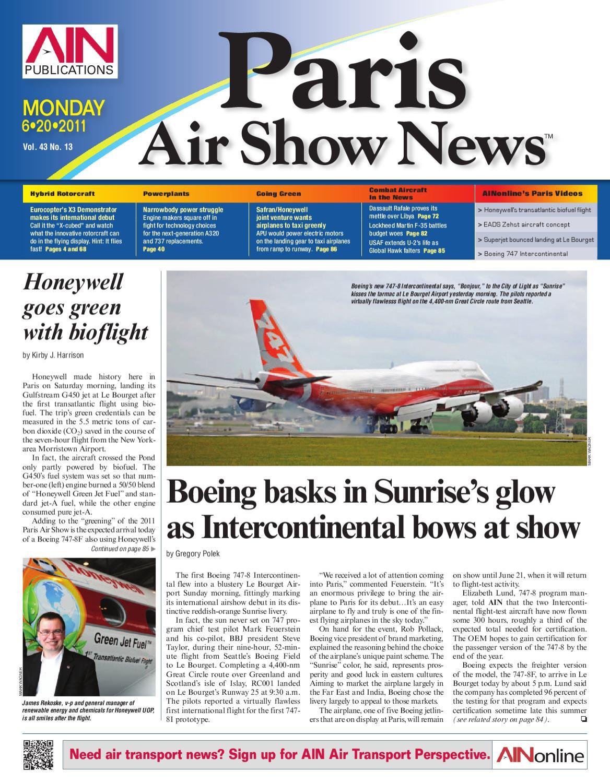 Paris Airshow News 6 20 11 By AIN Publications Issuu