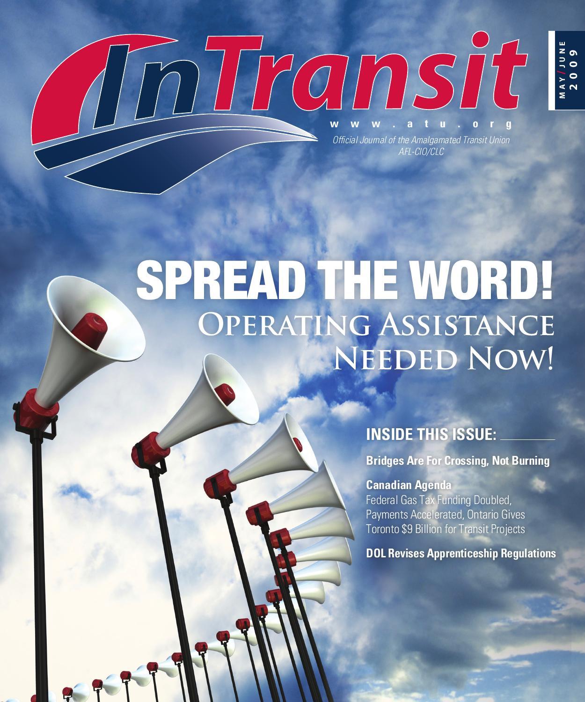 In Transit MayJune 2009 by Amalgamated Transit Union issuu