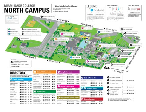 MIAMI DADE COLLEGE NORTH CAMPUS MAP by Lazaro Gamio   issuu