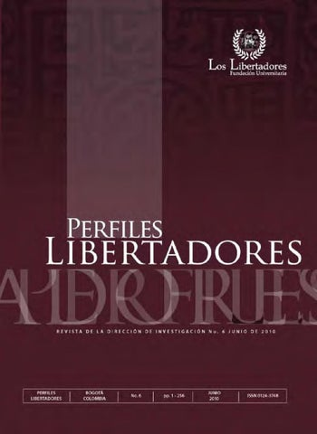 Revista Perfiles Libertadores by liliana ahumada - issuu f6fc6abfc8f7