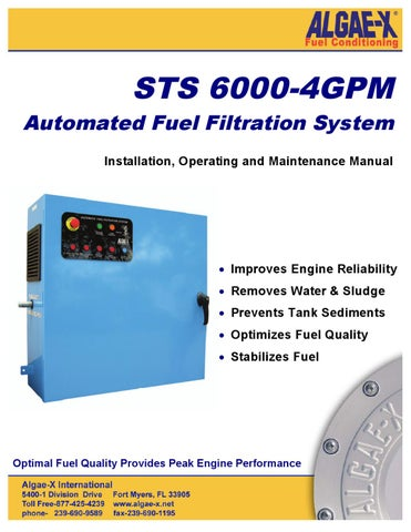 Automated Diesel Fuel Filtration System STS 6000-4GPM Manual b18aa286ac2