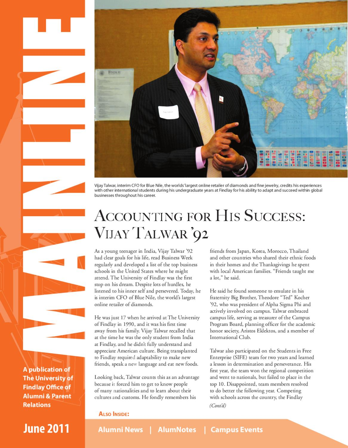 Mainline June 2011 By The University Of Findlay Issuu