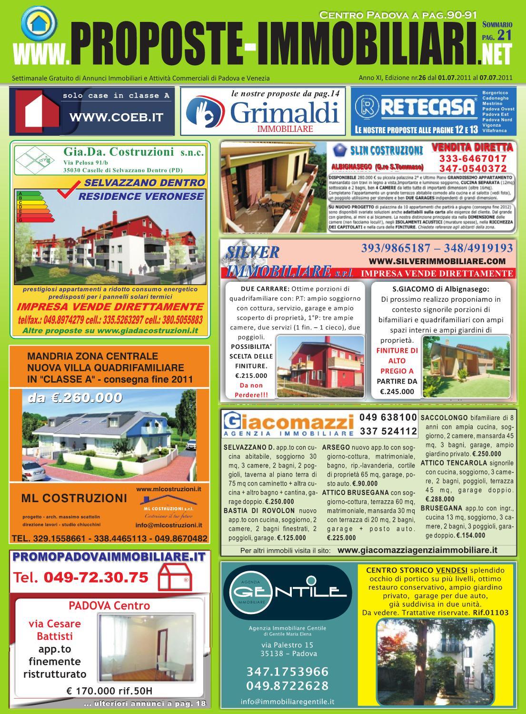 L Occhio Immobiliare Padova nr.26-2011 proposte immobiliari di padova by settimanale