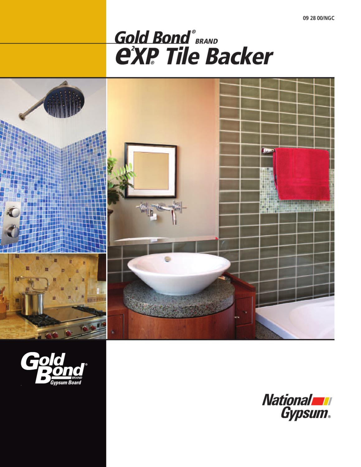 Moisture Resistant Gypsum Board Backs And Sides Front : E²xp tile backer by macopa issuu