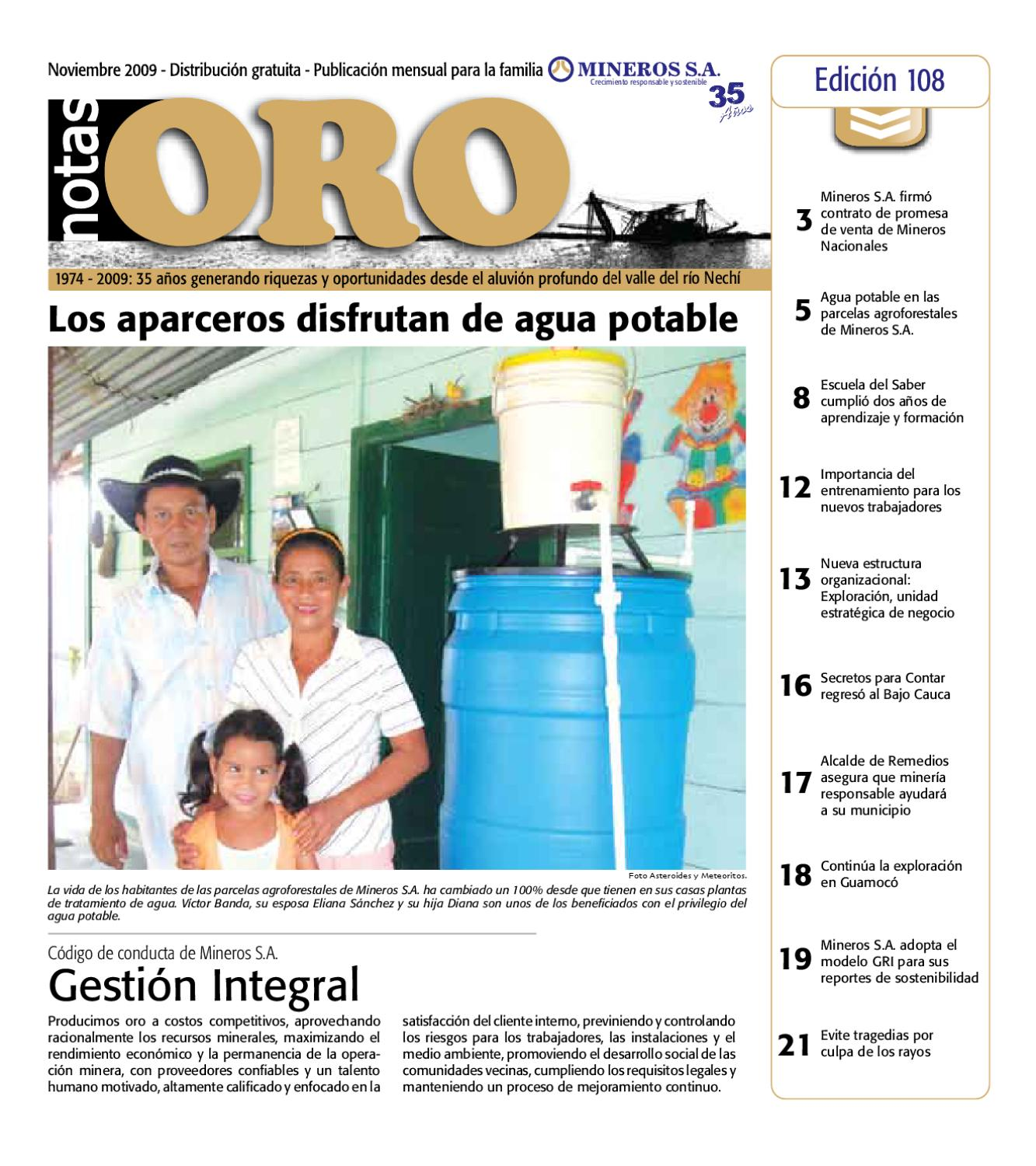 Notas Oro 108 by Mineros S.A. - issuu