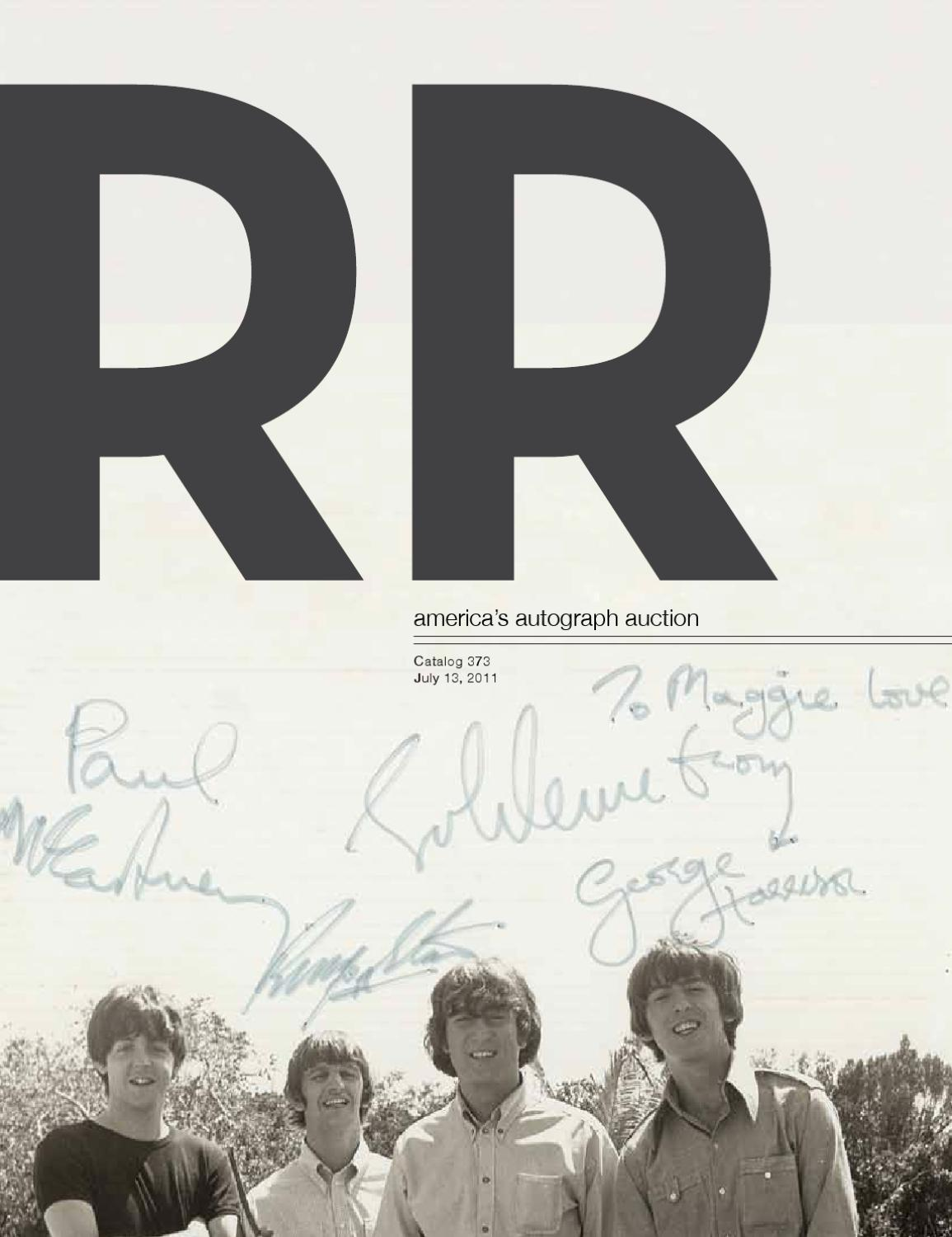 RR Auction Americas Autograph Auction Virtual Catalog 373 by RR Auction -  issuu 92c3d8edb
