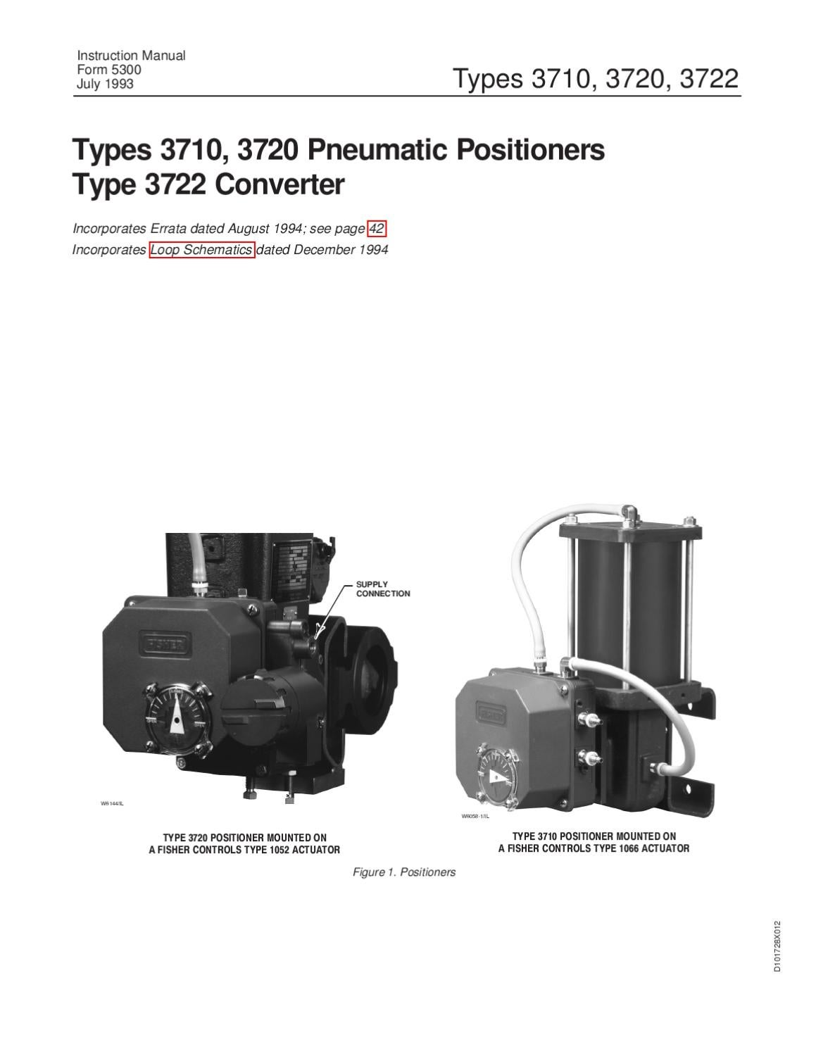 3710 Positioner Instruction Manual By Rmc Process Controls Auto Rod 3720 Wiring Diagram Filtration Inc Issuu