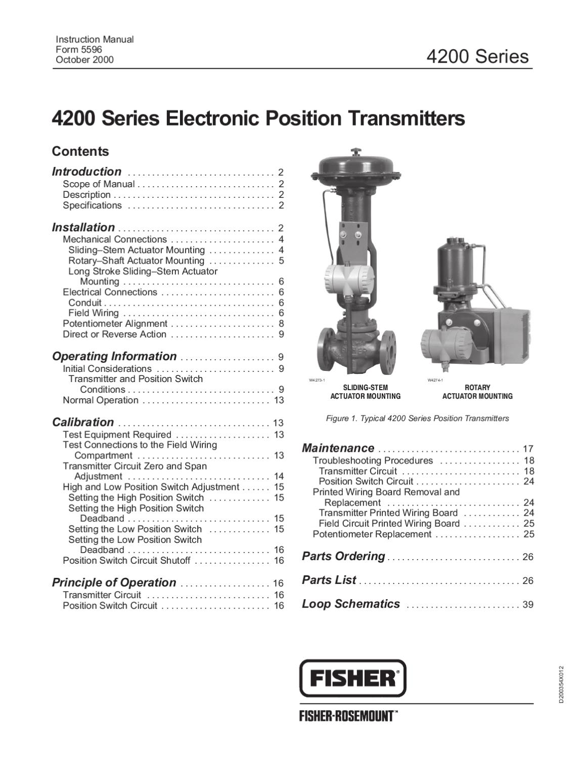 4200 Transmitter Instruction Manual By Rmc Process Controls Dvc 2000 Positioner Wiring Diagram Filtration Inc Issuu