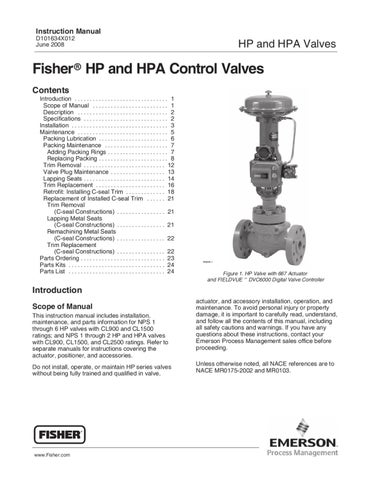 fisher 667 actuator installation manual