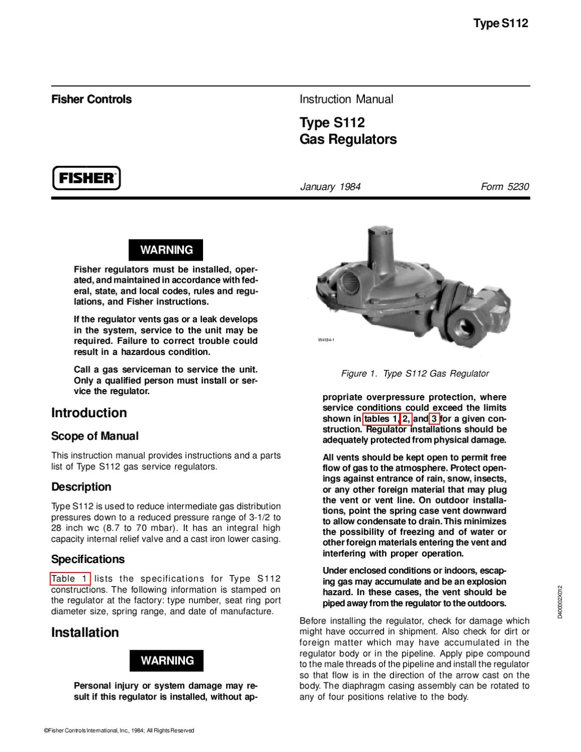 S112 Instruction Manual by RMC Process Controls & Filtration