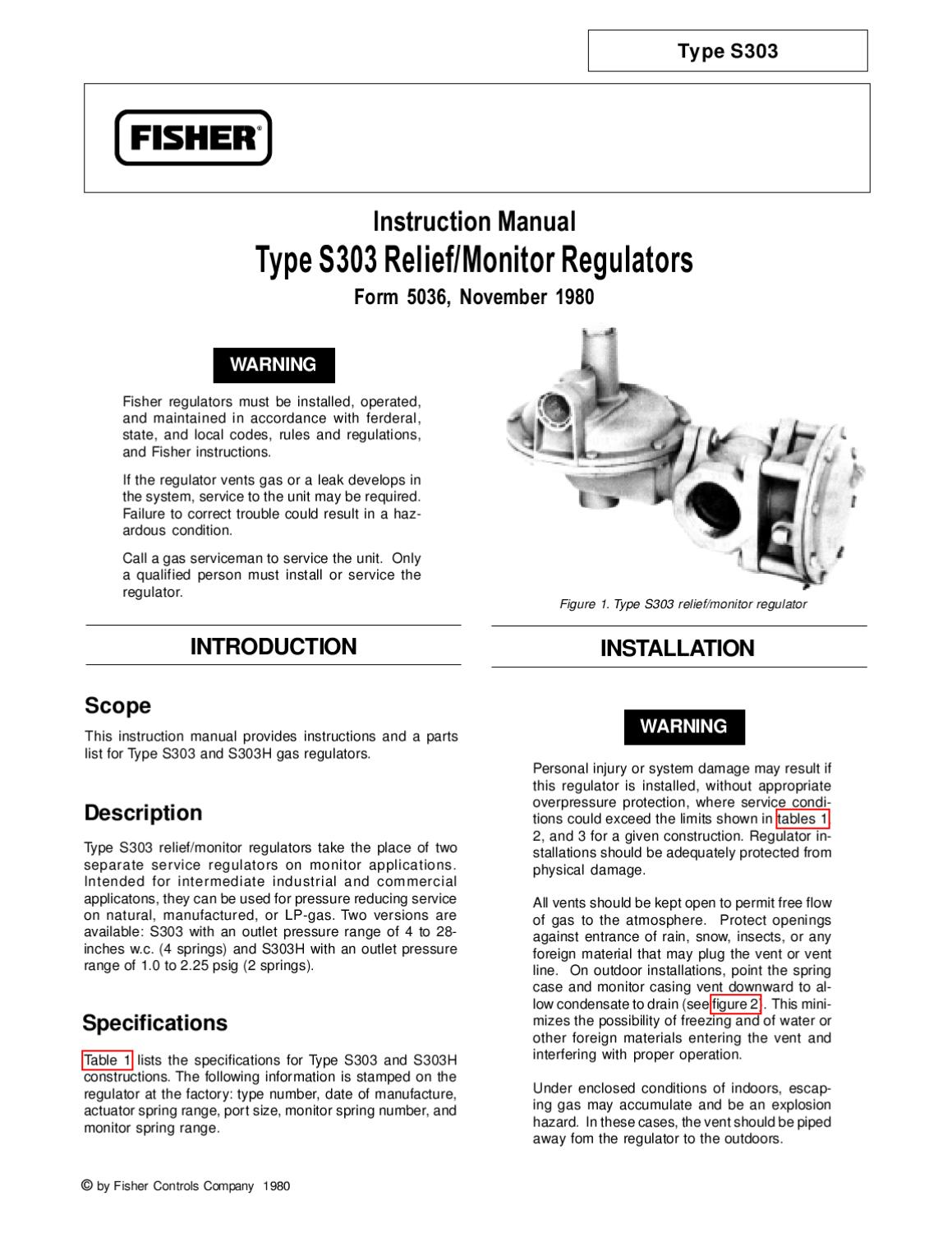 S303 Instruction Manual by RMC Process Controls & Filtration