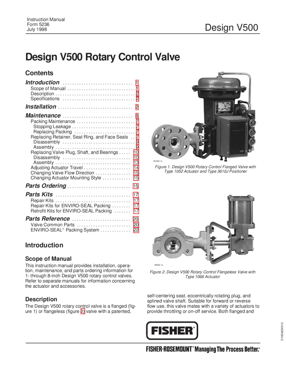 fisher v500 instruction manual