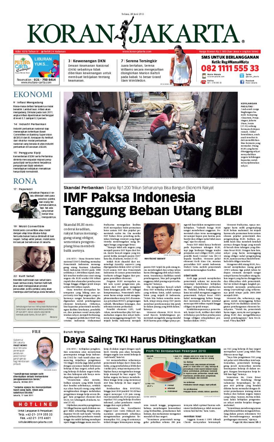 Edisi 1078 28 Juni 2011 By Pt Berita Nusantara Issuu Krezi Kamis 25  Karpet Pp Rug 100x150 Ter Free Ongkir