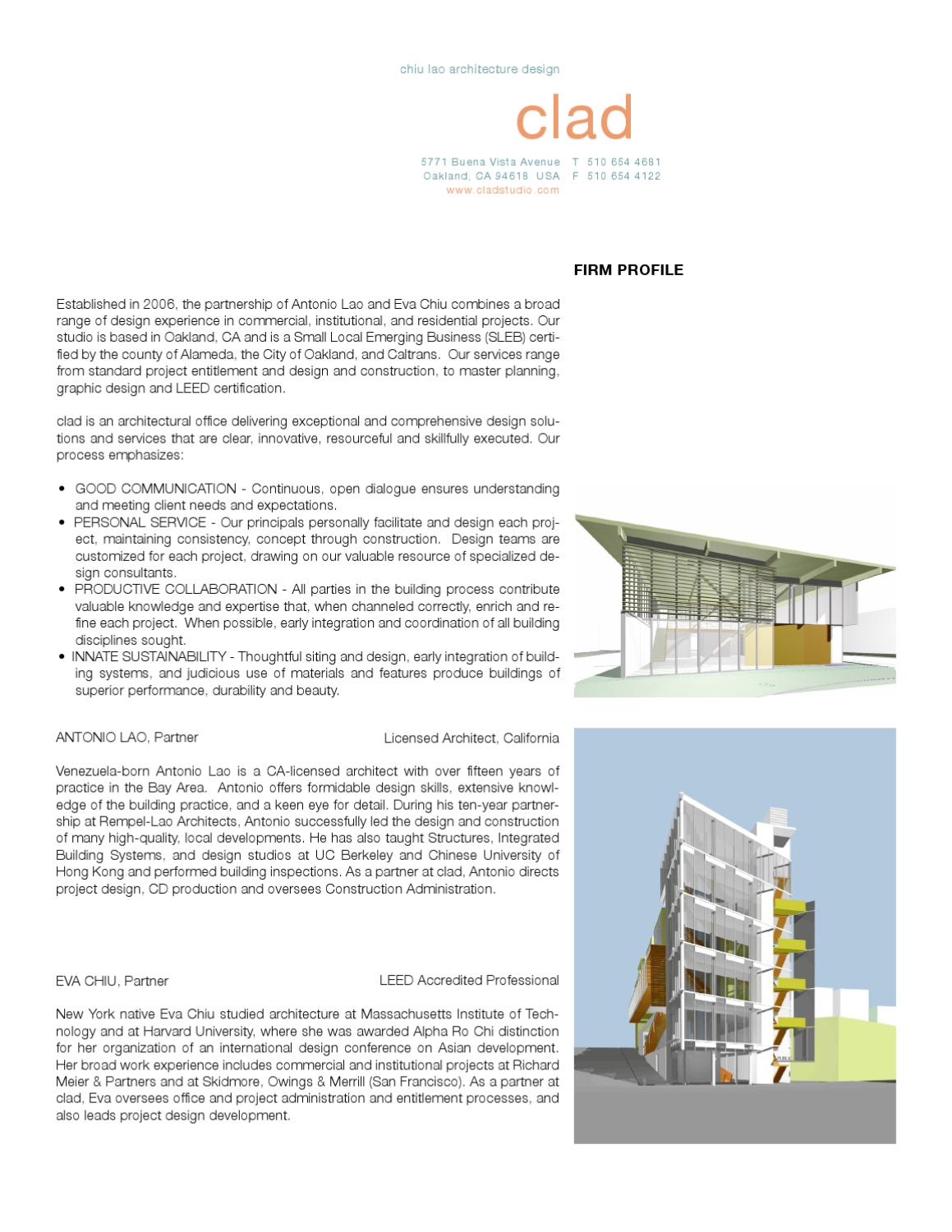 Clad Profile By Clad Issuu