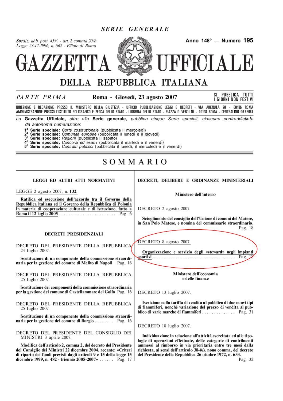 decreto steward dm 08 08 2007 by stewardpisa steward issuu