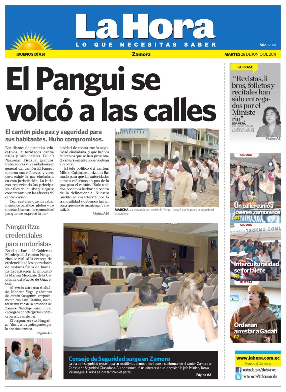 85f87b9ed69b Diario La Hora Zamora 28 de junio 2011 by Diario La Hora Ecuador - issuu
