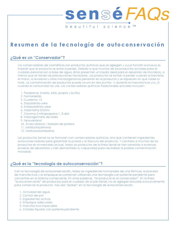 Resumen de la Tecnologia de autoconservacion by Juan Carlos Guinea ...